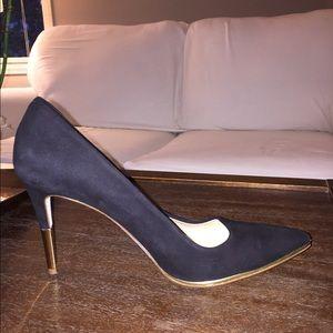 JCrew Black W Gold Heel